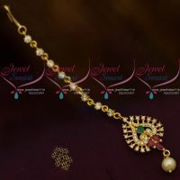 AD Small Size Multi Colour Stones Low Price Forehead Jewellery Nethichutti South Indian Online