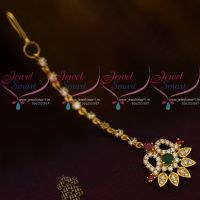Multi Colour AD Jewellery Hair Accessory Small NethiChutti South Indian Fashion Collections Online