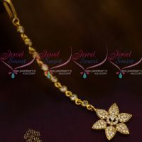 Small Size AD White Colour Star Design AD Jewellery NethiChutti Traditional Collections Online