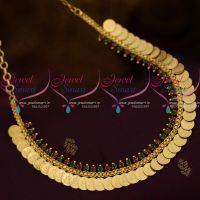 Kasumala Small Coin Temple Laxmi God Engraved Short Necklace Gold Plated Jewellery Online