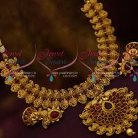 Broad South Indian Traditional Kemp Mango Antique Jewellery Designs Jhumka Shop Online