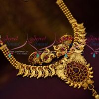 Peacock Design Kemp Red Colour Fancy Design Antique Fashion Jewellery Shop Online