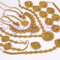 Nagas South Indian Temple Gold Jewellery Inspired Full Bridal Wedding Design Collections Online