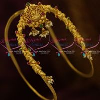 Gold Plated Finish One Gram Traditional Temple Aravanki South Indian Imitation Wedding Jewellery Online