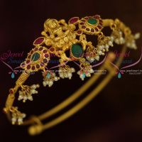 One Gram Gold Lakshmi God Temple South Traditional Jewellery Nakshi Nagas String Vanki Bajuband Online