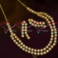 Solitaire Style Two Step Trendy Modern Gold Design Sparkling Stones Imitation Jewellery Online