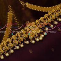 One Gram Gold Plated Temple Nakshi Vaddanam Flexible Belt 32 Inches Traditional Wedding South Indian Jewellery