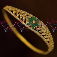 Small Size Fancy AD White Emerald Stones Thin Open Type Kada Stylish Fashion Jewellery Buy Online