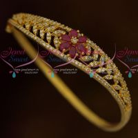 Fancy AD White Ruby Stones Thin Open Type Kada Stylish Fashion Jewellery Buy Online