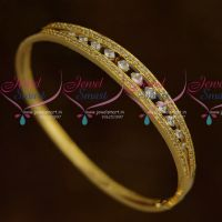 Thin Sparkling AD Fashion Jewellery Clip Open White Stones Kada Shop Online