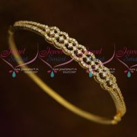 Thin Delicate Diamond Design Clip Open Bracelet White AD Stones Jewellery Online