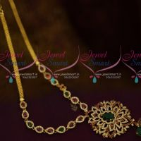 South Indian Imitation AD Jewellery Medium Haram Multi Colour Stones Low Price Collections