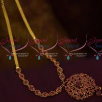 South Indian Imitation AD Jewellery Medium Haram Full Ruby Stones Low Price Collections