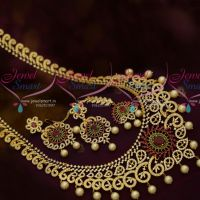 Broad Bridal Haram Latest Semi Precious Stones Traditional Jewellery Models Online