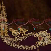 Fancy Gold Plated Latest Imitation Haram AD Fashion Jewellery Collections Online