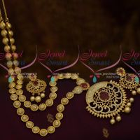 Fancy AD Stone Ball Design Fancy Chain Long Haram Latest Fashion Jewellery Designs