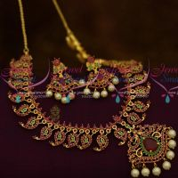 Mango Design Traditional Finish South Indian Imitation Jewellery Set Shop Online