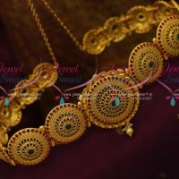 Wedding Jewellery Kemp Vaddanam Latest South Indian Traditional Oddiyanam Online