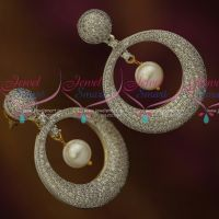 Full White CZ Stones Silver Look Sparkling Fashion Ear Studs Jewellery Online