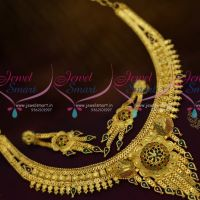 Imitation Jewellery Enamel Colour South Indian Traditional Finish Short Necklace Online