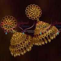 Temple Kempu Jhumka Online Artificial Fashion Jewellery Buy Online