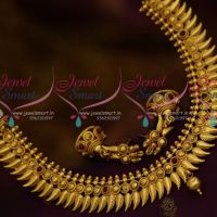 Kerala Design Short Antique Imitation Jewellery Jhumka Earrings Online