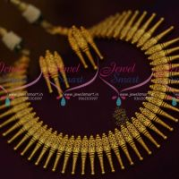 Kerala Style Design Matte Dull Gold Plated Fancy Jewellery Set Online