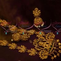 Nagas Handmade Heavy Jewellery Antique Matte Gold Plated Temple Haram Collections Shop Online
