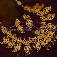 Temple Peacock Matte Finish Traditional Jewellery Handmade Collections Online