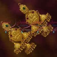 One Gram Finish Temple Nakshi Heavy Multi Layer Jhumka Screwback Designs Online