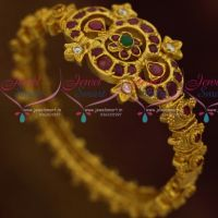 Traditional Jewellery Screw Open Kada Bracelet Semi Precious Stones Latest Designs Online