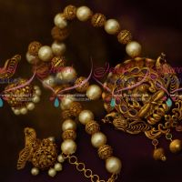 Pearl Temple Jewellery Matte Gold Antique Beaded Nagas Latest Real Look Design Collections Online