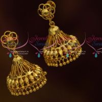 Small Tops Jhumka Drops Earrings South Indian Handmade Light Weight Jewellery Online