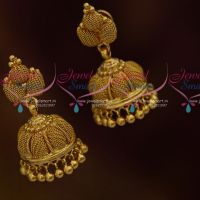 Mesh Design Jhumka Earrings South Indian Handmade Imitation Jewellery Online