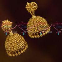 Beads Design Jhumka Earrings South Indian Handmade Imitation Jewellery Online