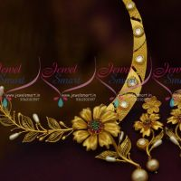 One Gram Gold Plated Stylish Gold Design Ruby Emerald Kundan Jewellery Imitation Buy Online