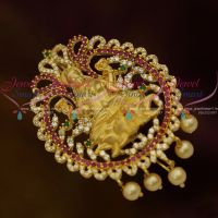 Temple Matte Gold AD Stones Choti Accessory Imitation Collections Latest Online