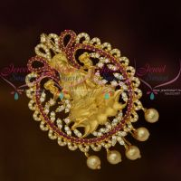 Temple Matte Gold AD Ruby Stones Choti Accessory Imitation Collections Latest Online