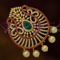 Multi Colour Gold Plated Fancy AD Jada Billa Latest Bridal Choti Collections Shop Online