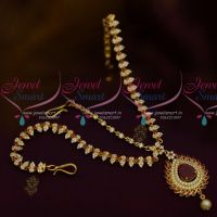AD Stones Ruby White Colour Damini MathaPatti Nethichutti Imitation Jewellery Set Buy Online