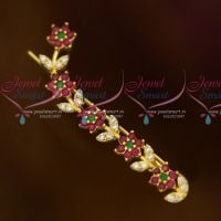 Flower Model Multi Colour Saree Pins AD Stones Imitation Accessory Jewellery Online