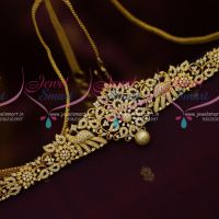 AD White Stones Flexible Vaddanam Latest Fashion Jewellery Designs Online