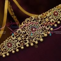 AD Multi Colour Stones Latest Vaddanam Latest Fashion Jewellery Designs Online