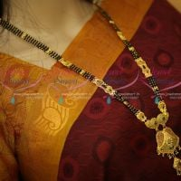 Nalla Pusalu Haram 3 Line 26 Inches One Gram Gold Traditional Jewellery Finish Collections Online