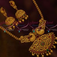 Matte Gold Plated Chain Pendant Screw Back Jhumka Earrings Latest Jewellery Designs Online