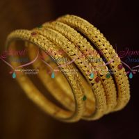 Premium Gold Finish 4 Pcs Light Weight Handmade Forming Jewellery Collections Online