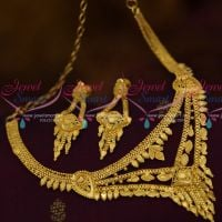 Thin Multi Step Forming 100 mg Plated Real Look Delicate Short Fancy Necklace Online