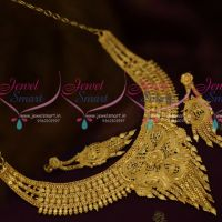 Latest South Indian Jewellery One Gram Traditional Short Necklace Online