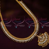 White AD Fashion Jewellery Low Price Simple Design Marquise South Indian Handmade Design