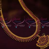 Ruby AD Fashion Jewellery Low Price Simple Design Marquise South Indian Handmade Design